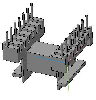 Трансформаторы на каркасе EF16 (1 секция, 14 выводов, горизонтальный)